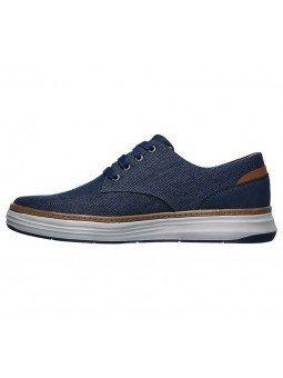 Comprar Zapatos Skechers Classic Fit Moreno Ederson, modelo 65981, color marino NVY, lateral interior