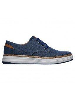 Comprar Zapatos Skechers Classic Fit Moreno Ederson, modelo 65981, color marino NVY, lateral exterior