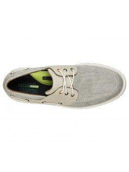 Comprar Náutico Skechers Classic Fit Moreway Barco, modelo 204040, color gris KHK, vista aerea