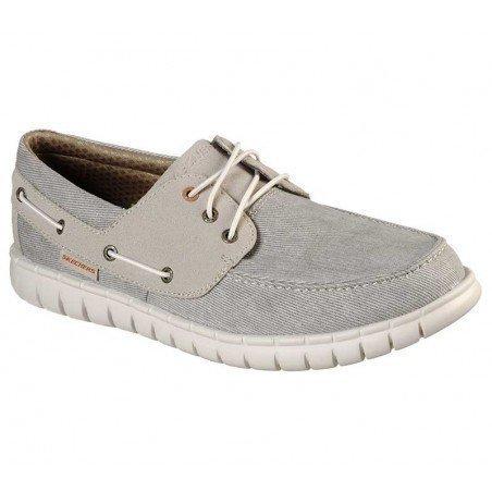 Comprar Náutico Skechers Classic Fit Moreway Barco, modelo 204040, color gris KHK