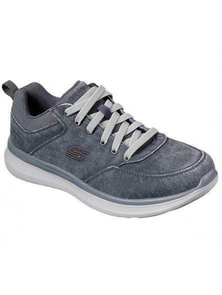 Zapatos casual Skechers Classic Fit Delson 2.0 Kemper, modelo 210024, color azul BLU