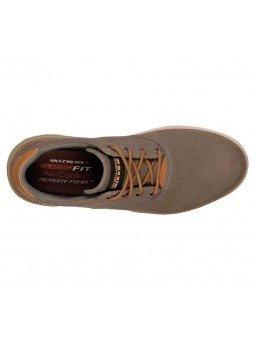 Compra Zapatos casual Skechers Classic Fit Folten Verone, modelo 65370, color kaki KHK, vista aerea