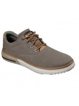 Compra Zapatos casual Skechers Classic Fit Folten Verone, modelo 65370, color kaki KHK