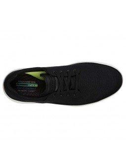 Comprar zapato casual Skechers Classic Fit Status 2.0 Burbank, modelo 204083, color negro BLK, vista aerea