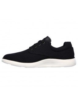 Comprar zapato casual Skechers Classic Fit Status 2.0 Burbank, modelo 204083, color negro BLK, lateral exterior