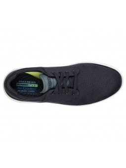 Comprar zapato casual Skechers Classic Fit Status 2.0 Burbank, modelo 204083, color marino NVY, vista aerea