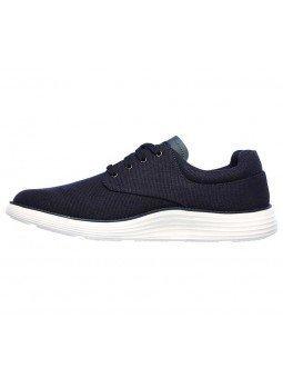 Comprar zapato casual Skechers Classic Fit Status 2.0 Burbank, modelo 204083, color marino NVY, lateral interior