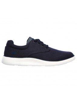 Comprar zapato casual Skechers Classic Fit Status 2.0 Burbank, modelo 204083, color marino NVY, lateral exterior