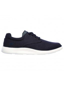 Comprar zapato casual Skechers Classic Fit Status 2.0 Burbank, modelo 204083, color marino NVY, lateral exterior