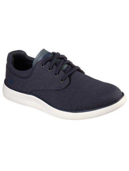 Comprar zapato casual Skechers Classic Fit Status 2.0 Burbank, modelo 204083, color marino NVY