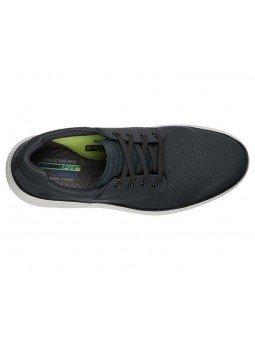 Comprar zapato casual Skechers Classic Fit Status 2.0 Burbank, modelo 204083, color gris CHAR, vista aerea