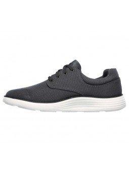 Comprar zapato casual Skechers Classic Fit Status 2.0 Burbank, modelo 204083, color gris CHAR, lateral interior