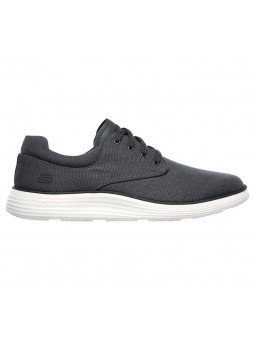 Comprar zapato casual Skechers Classic Fit Status 2.0 Burbank, modelo 204083, color gris CHAR, lateral exterior