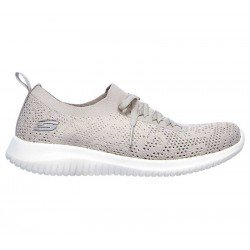 Comprar Zapatillas Skechers Ultra Flex Windy Sky, modelo 149033, color taupe TPE, lateral exterior