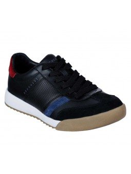 Sneakers Skechers Street Los Angeles Zinger, modelo 52321, color negro BKNV