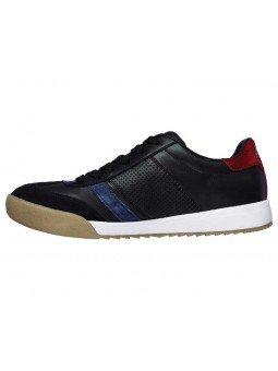 Sneakers Skechers Street Los Angeles Zinger, modelo 52321, color negro BKNV, lateral interior