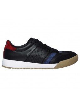 Sneakers Skechers Street Los Angeles Zinger, modelo 52321, color negro BKNV, lateral exterior