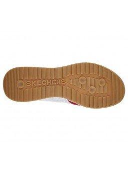 Sneakers Skechers Street Los Angeles Zinger, modelo 52321, color blanco WNV, suela