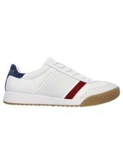 Comprar Sneakers Skechers Street Los Angeles Zinger, modelo 52321, color blanco WNV, lateral exterior