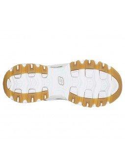 Comprar Zapatillas Skechers D´Lites Quick Leopard, modelo 13158, color blnco leopardo WHLD, suela