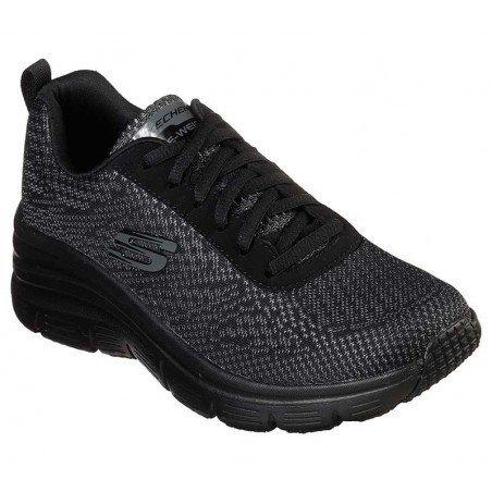 Comprar Zapatillas Skechers Fashion Fit Bold Boundaires, modelo 12719, color negro BBK
