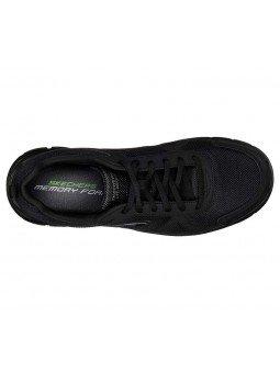 Comprar Zapatillas Casual Skechers Sport Track Scloric, modelo 52631, color negro BBK, vista aerea