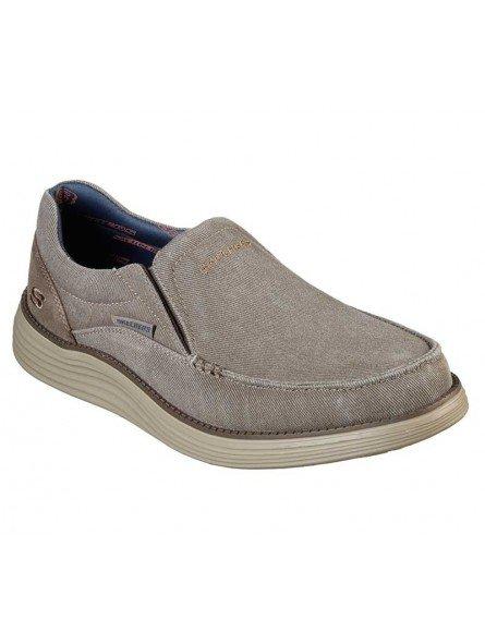 Comprar Online Zapato Skechers Status 2.0 Mosent sin cordones, modelo 66014, color kaki KHK