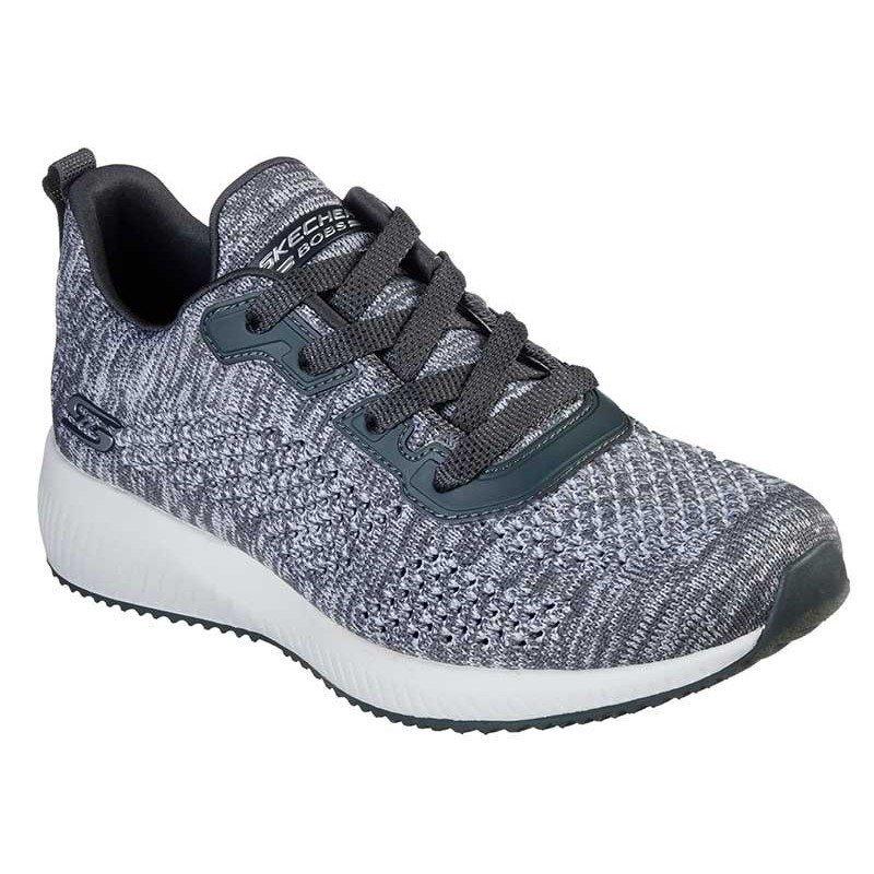 Comprar online Zapatillas Skechers Bobs Sport Squad, modelo 32523, color gris CCL
