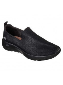 Mocasín Skechers Go Walk Joy Gratify, modelo 15612, color negro bbk, waterproof, vista portada.