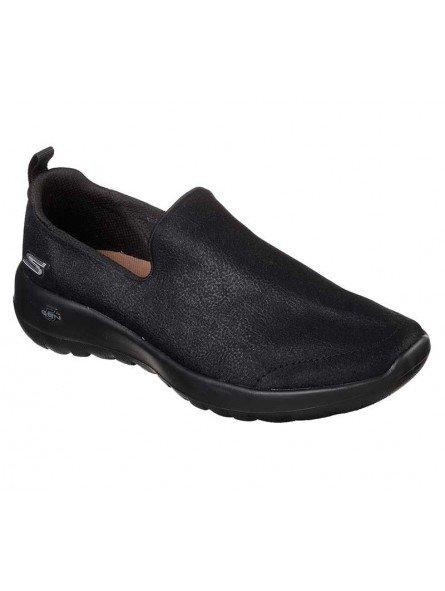 Mocasín Skechers Go Walk Joy Gratify, modelo 15612, color negro bbk, waterproof, vista portada.