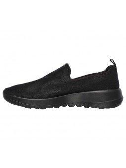 Mocasín Skechers Go Walk Joy Gratify, modelo 15612, color negro bbk, waterproof, vista lateral interior.