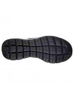 Comprar Zapatillas con vecro Skechers Flex Advantage 2.0 Gurn, modelo 52183, color negro, suela