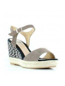 Comprar Alpargata Toni Pons Carácter Mediterráneo, modelo Espardeña Alexia, color taupe, sandalia con cuña alta