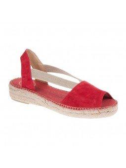 Comprar Alpargata Toni Pons Carácter Mediterráneo, modelo Espardeña Ella, color rojo, sandalia plana
