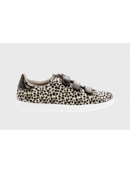 Comprar Zapatillas deportivas mujer, Tenis Victoria, modelo 125201, color animal print beige, lateral exterior