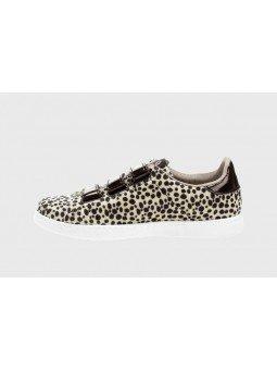 Comprar Zapatillas deportivas mujer, Tenis Victoria, modelo 125201, color animal print beige, lateral interior