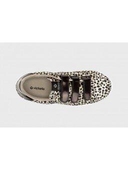 Comprar Zapatillas deportivas mujer, Tenis Victoria, modelo 125201, color animal print beige, vista aerea