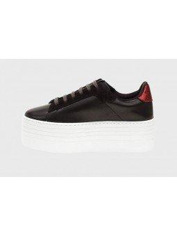 Comprar Online Zapas Victoria con plataforma, modelo 105110 en piel, color negro, lateral interior