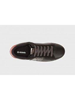 Comprar Online Zapas Victoria con plataforma, modelo 105110 en piel, color negro, vista aerea
