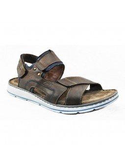 Comprar sandalia Walk&Fly de hombre, de piel, modelo 022 42880, color marrón marino TDM BLU