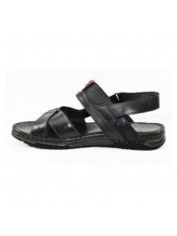 Comprar sandalia Walk&Fly de hombre, de piel, modelo 963 40050, color negro NERO, lateral interior