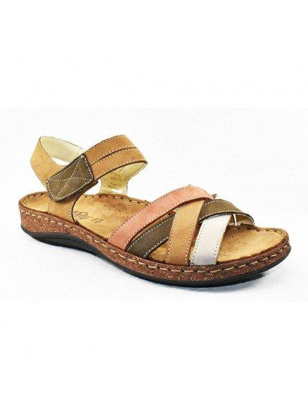 Comprar sandalia Walk&Fly de mujer, de piel, modelo 3861 43170, multicolor