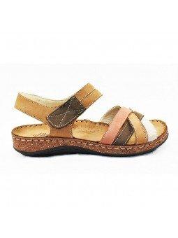 Comprar sandalia Walk&Fly de mujer, de piel, modelo 3861 43170, multicolor, lateral exterior