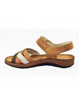 Comprar sandalia Walk&Fly de mujer, de piel, modelo 3861 43170, multicolor, lateral interior