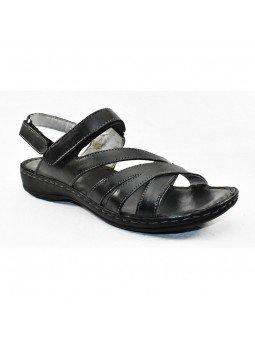 Comprar sandalia Walk&Fly de mujer, de piel, modelo 7325 16170, color negro NERO