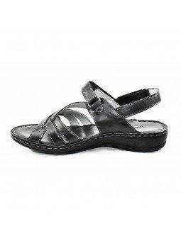 Comprar sandalia Walk&Fly de mujer, de piel, modelo 7325 16170, color negro NERO, lateral interior