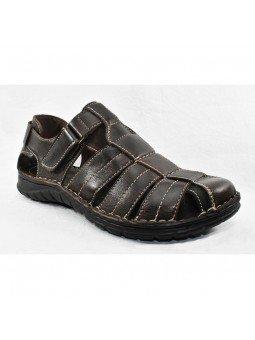 Comprar sandalia cerrada Walk&Fly de hombre, en piel, modelo 541 20910, color marrón TDM