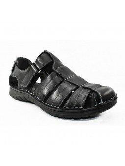 Comprar sandalia cerrada Walk&Fly de hombre, en piel, modelo 541 20910, color negro NERO