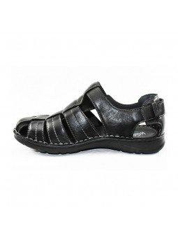 Comprar sandalia cerrada Walk&Fly de hombre, en piel, modelo 541 20910, color negro NERO, lateral interior