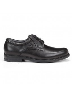 zapato caballero Fluchos, color negro, cordones, modelo 8466, de piel, vista lateral